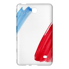 Tricolor Banner Flag France, Blue White Red Watercolor Samsung Galaxy Tab 4 (8 ) Hardshell Case  by picsaspassion