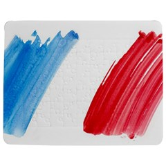 Tricolor Banner Flag France, Blue White Red Watercolor Jigsaw Puzzle Photo Stand (rectangular) by picsaspassion