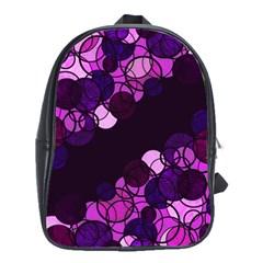 Purple Bubbles School Bags(large)  by Valentinaart