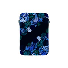 Blue Bubbles Apple Ipad Mini Protective Soft Cases by Valentinaart