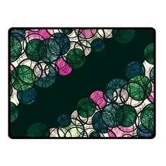 Green And Pink Bubbles Double Sided Fleece Blanket (small)  by Valentinaart