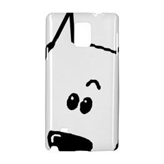 Peeping German Shepherd White Samsung Galaxy Note 4 Hardshell Case by TailWags