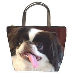 Japanese Chin Bw Bucket Bags by TailWags
