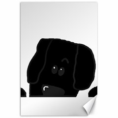 Peeping Newfie Canvas 20  X 30   by TailWags