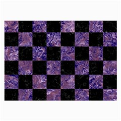 Square1 Black Marble & Purple Marble Large Glasses Cloth (2 Sides) by trendistuff