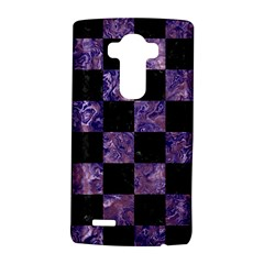 Square1 Black Marble & Purple Marble Lg G4 Hardshell Case by trendistuff