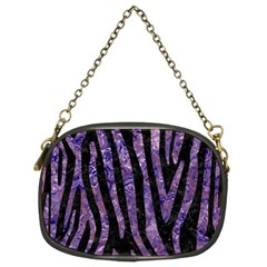 Skin4 Black Marble & Purple Marble (r) Chain Purse (two Sides) by trendistuff