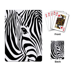 Animal Cute Pattern Art Zebra Playing Card by Amaryn4rt