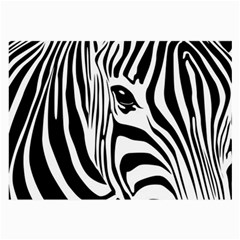 Animal Cute Pattern Art Zebra Large Glasses Cloth