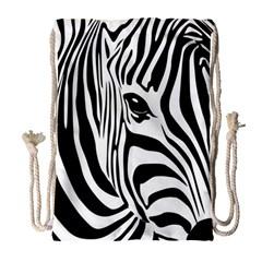 Animal Cute Pattern Art Zebra Drawstring Bag (large) by Amaryn4rt