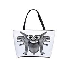 Body Part Monster Illustration Shoulder Handbags by dflcprints