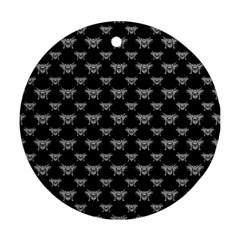 Body Part Monster Illustration Pattern Ornament (round)  by dflcprints
