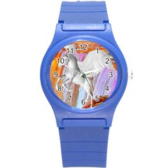 Pegasus Round Plastic Sport Watch (s) by icarusismartdesigns