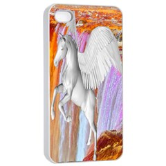 Pegasus Apple Iphone 4/4s Seamless Case (white) by icarusismartdesigns