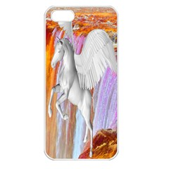 Pegasus Apple Iphone 5 Seamless Case (white) by icarusismartdesigns
