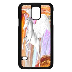 Pegasus Samsung Galaxy S5 Case (black) by icarusismartdesigns