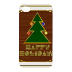 Art Deco Holiday Card Apple Iphone 4/4s Premium Hardshell Case by Amaryn4rt
