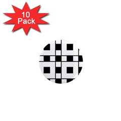 Black And White Pattern 1  Mini Magnet (10 Pack)  by Amaryn4rt