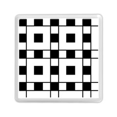 Black And White Pattern Memory Card Reader (square)  by Amaryn4rt