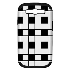 Black And White Pattern Samsung Galaxy S III Hardshell Case (PC+Silicone) by Amaryn4rt