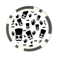 Gentlemen   Black And White Poker Chip Card Guards by Valentinaart