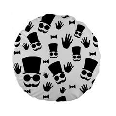 Gentlemen - black and white Standard 15  Premium Flano Round Cushions by Valentinaart