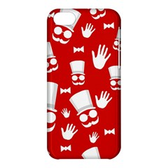 Gentlemen   Red And White Pattern Apple Iphone 5c Hardshell Case by Valentinaart