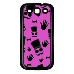 Gentleman   Magenta Pattern Samsung Galaxy S3 Back Case (black) by Valentinaart