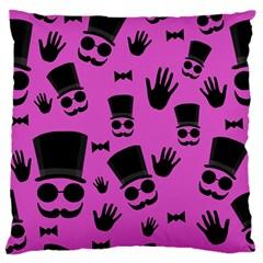 Gentleman   Magenta Pattern Standard Flano Cushion Case (one Side) by Valentinaart
