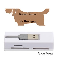 Basset Fauve De Bretagne Color Name Silhouette Memory Card Reader (Stick)  by TailWags