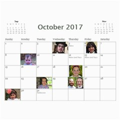 Mommy Calendar By Sara E  Goldberger   Wall Calendar 11  X 8 5  (12 Months)   Sgqs06c5zbds   Www Artscow Com Oct 2017
