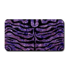 Skin2 Black Marble & Purple Marble (r) Medium Bar Mat by trendistuff