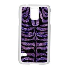 Skin2 Black Marble & Purple Marble (r) Samsung Galaxy S5 Case (white) by trendistuff