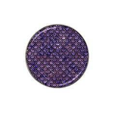 Scales2 Black Marble & Purple Marble (r) Hat Clip Ball Marker (10 Pack) by trendistuff