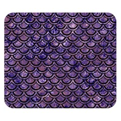 Scales2 Black Marble & Purple Marble (r) Double Sided Flano Blanket (small)