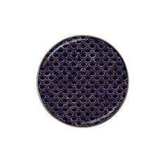Scales2 Black Marble & Purple Marble Hat Clip Ball Marker by trendistuff