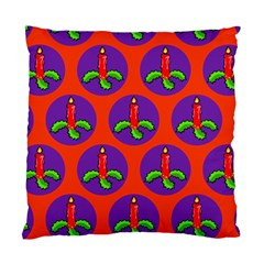 Christmas Candles Seamless Pattern Standard Cushion Case (one Side) by Amaryn4rt