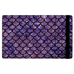 Scales1 Black Marble & Purple Marble (r) Apple Ipad 3/4 Flip Case by trendistuff