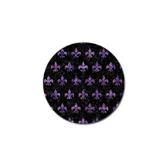 Royal1 Black Marble & Purple Marble (r) Golf Ball Marker by trendistuff