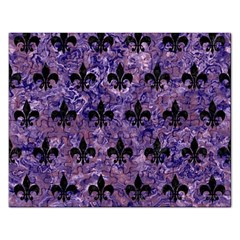 Royal1 Black Marble & Purple Marble Jigsaw Puzzle (rectangular) by trendistuff