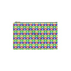 Colorful Curtains Seamless Pattern Cosmetic Bag (small)