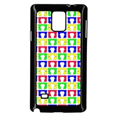 Colorful Curtains Seamless Pattern Samsung Galaxy Note 4 Case (black) by Amaryn4rt