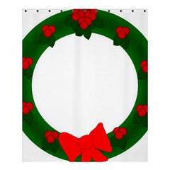 Holiday Wreath Shower Curtain 60  X 72  (medium)  by Amaryn4rt