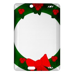 Holiday Wreath Amazon Kindle Fire Hd (2013) Hardshell Case by Amaryn4rt