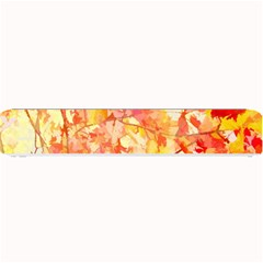 Monotype Art Pattern Leaves Colored Autumn Small Bar Mats by Amaryn4rt