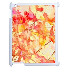Monotype Art Pattern Leaves Colored Autumn Apple Ipad 2 Case (white) by Amaryn4rt