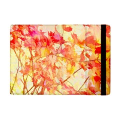 Monotype Art Pattern Leaves Colored Autumn Apple Ipad Mini Flip Case