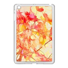 Monotype Art Pattern Leaves Colored Autumn Apple Ipad Mini Case (white) by Amaryn4rt