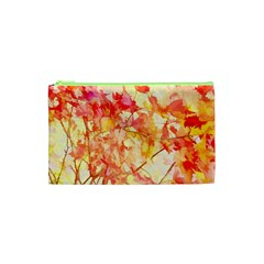 Monotype Art Pattern Leaves Colored Autumn Cosmetic Bag (xs) by Amaryn4rt