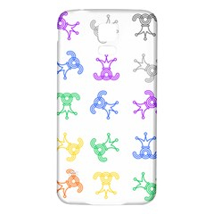 Rainbow Clown Pattern Samsung Galaxy S5 Back Case (white) by Amaryn4rt